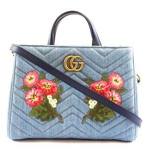 Marmont Gg Embroidered Matelasse Shoulder Bag